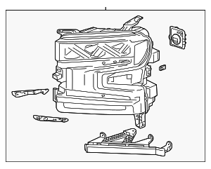 Headlamp Assembly - GM (84547821)