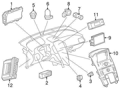 Oem 2013 Chevrolet Volt Instruments Gauges Parts