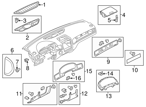 Instrument Panel Components For 2013 Volkswagen Touareg