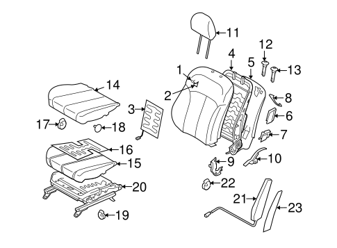 Front Seat Components For 2014 Subaru Legacy