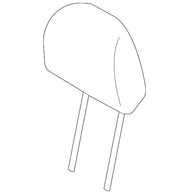 2014 Scion Iq Transmission: Headrest - Subaru (64061AJ03AVH)