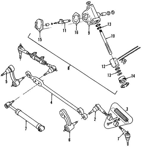 steering gear  u0026 linkage 1987 chevrolet g30 oem  u2013 new gm