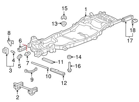 Frame & Components for 2007 Chevrolet Avalanche | GMPartOnline