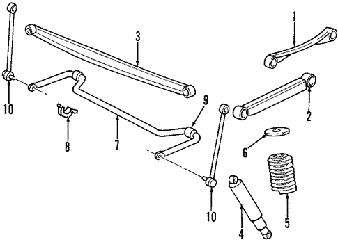 Rear Suspension For 1999 Lincoln Navigator Blue Springs Ford Parts