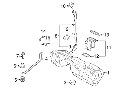Fuel System Components For 2015 Bmw 335i Xdrive