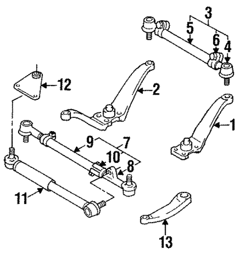 genuine oem steering linkage parts for 1994 toyota land