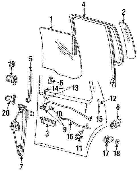Rear Door For 1993 Ford Explorer