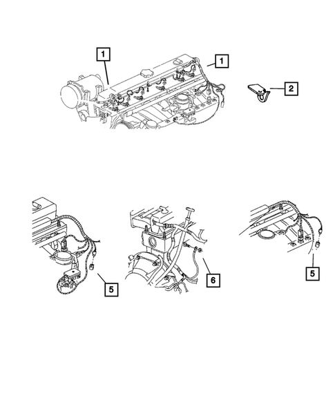 Wiring Engine Related Parts For 2003 Jeep Wrangler Dodgeparts Com