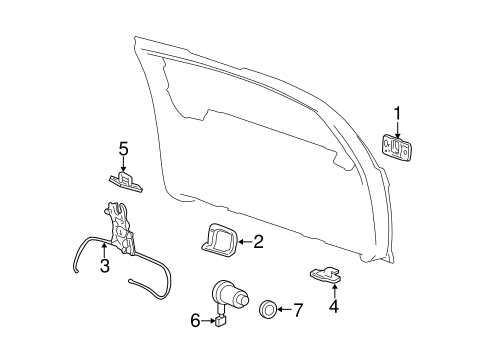 Liftgate for 2000 GMC Yukon #3