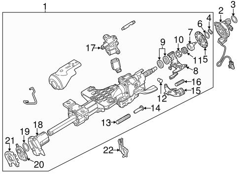 oem 2014 gmc sierra 1500 steering column assembly parts Cadillac Steering Column Diagram steering steering column assembly for 2014 gmc sierra 1500