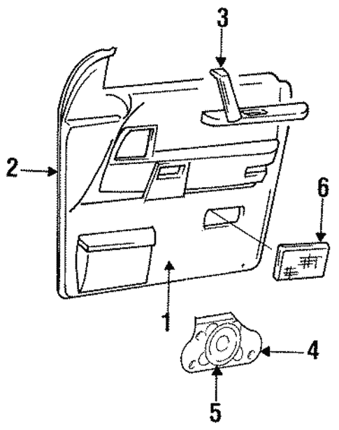 Interior Trim - Front Door for 1993 Chrysler Town & Country #0