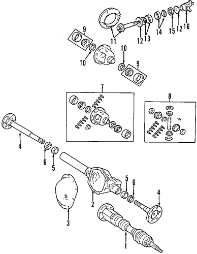 Page59 furthermore Warn Automatic Locking Hubs Diagram in addition Walker Exhaust 44558 in addition Jeep Wrangler 2 4 2005 Specs And Images furthermore Drive Shaft U Joints. on ramcharger front axle