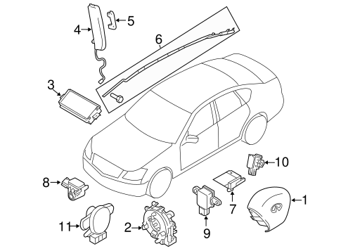 Air Bag Components For 2011 Infiniti M37