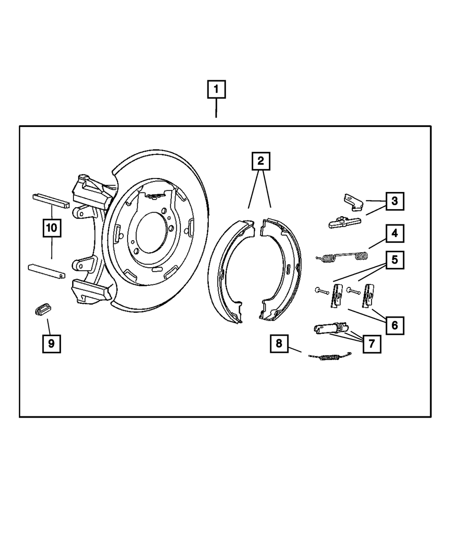 Genuine Mopar Lever-Parking Brake 5080569AE