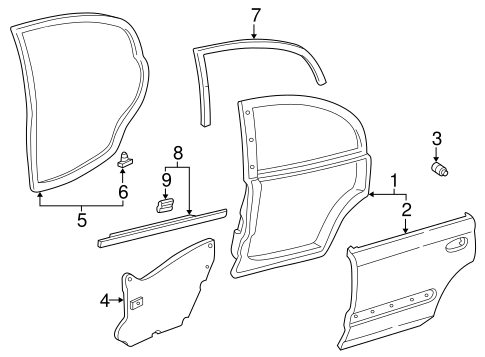 Sub-Seal, R Rear Door
