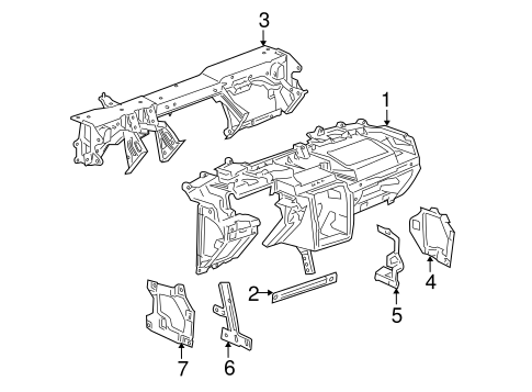 Instrument Panel For 2007 Chevrolet Cobalt