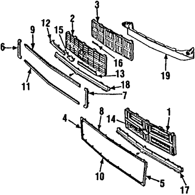 Grille - GM (15554914)