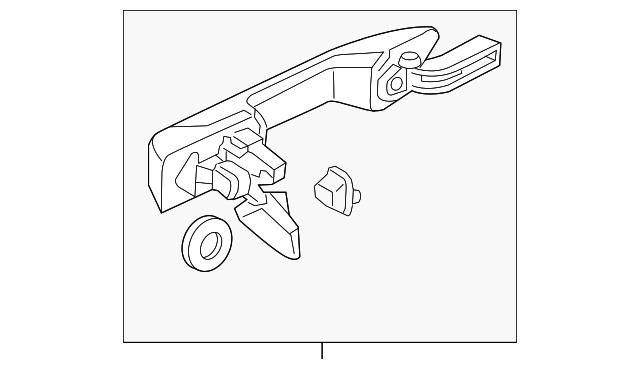 Right Genuine Honda 72640-S86-K01ZT Door Handle Assembly Rear
