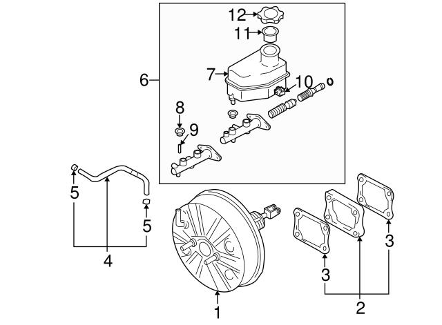 vacuum hose hyundai 59130 2c500 hyundaiparts 03 Tiburon Body Kit