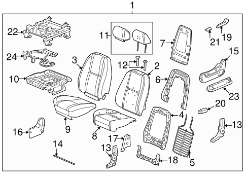 Front Seat Components for 2007 Chevrolet Tahoe #1