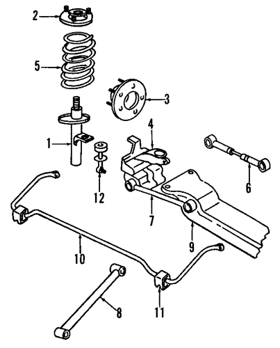 Rear Suspension For 1995 Chrysler New Yorker Parts