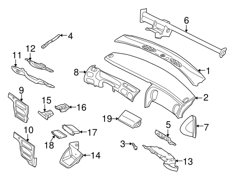Instrument Panel For 2000 Dodge Intrepid