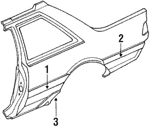 Quarter Panel Components For 1988 Subaru Dl
