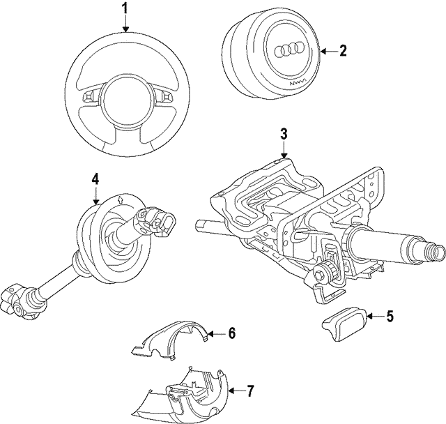 Steering Wheel - Audi (420-419-091-F-TNA)
