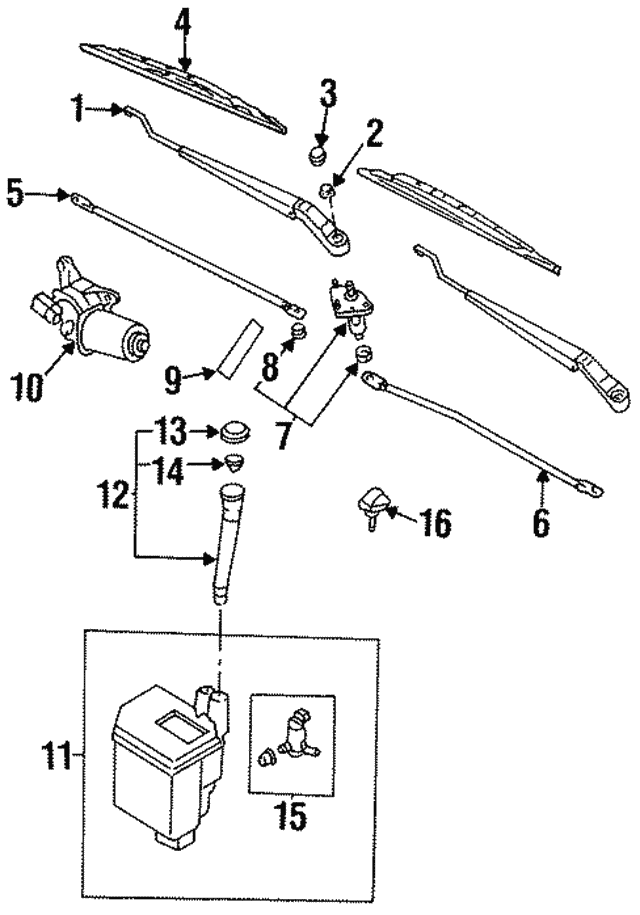 Wiper Arm - Nissan (28881-1N600)