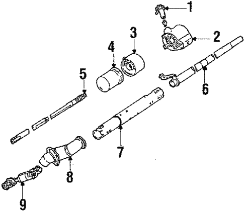 Awesome Steering Column Assembly 1990 Pontiac 6000 Oem New Gm Parts Wiring Digital Resources Bioskbiperorg