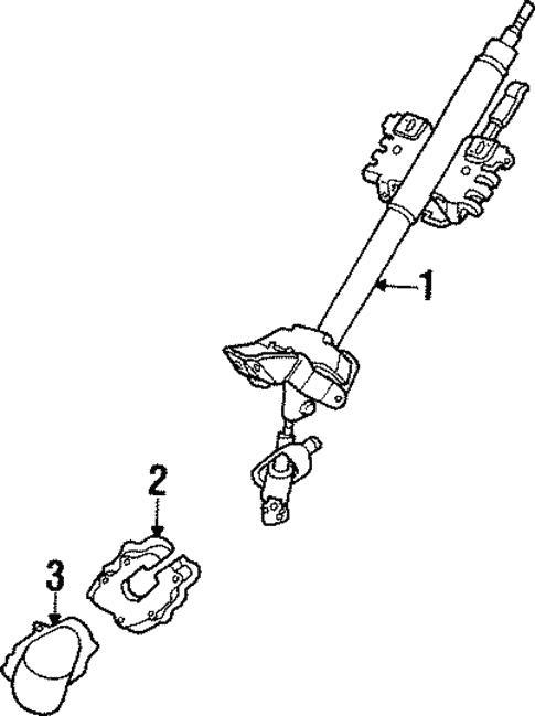 Steering Column Components for 1997 Mazda Protege #0