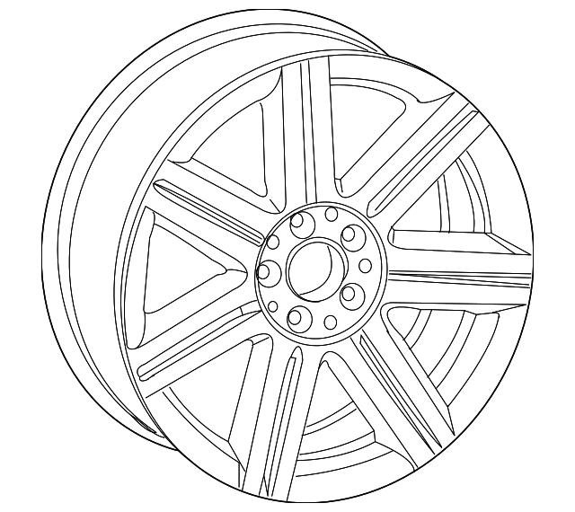 2004-2008 Chrysler Crossfire Wheel, Alloy 5097970AA