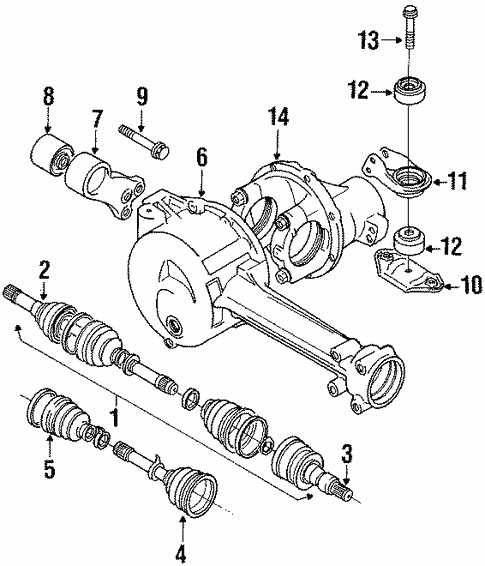 Axle Components For 1998 Suzuki Sidekick