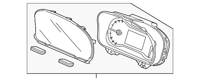 Honda Genuine 78100-SZT-A11 Combination Meter Assembly