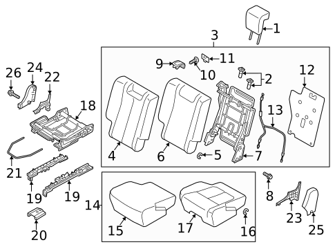 Rear Seat Components for 2019 Mitsubishi Eclipse Cross #0
