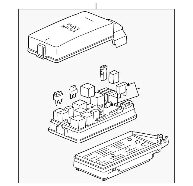 2007 saturn vue fuse box 15913398 findlay part. Black Bedroom Furniture Sets. Home Design Ideas