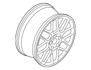 Wheel, Alloy - Volkswagen (1J0-601-025-BB-8Z8)