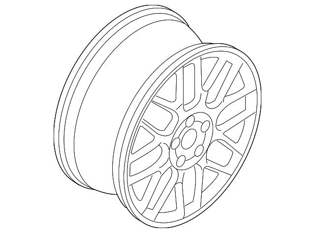 2004 Volkswagen Golf Wheel Alloy 1j0 601 025 Bb 8z8