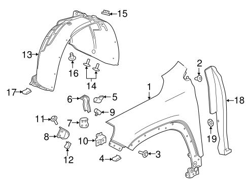 Oem 2018 Gmc Terrain Fender Components Parts