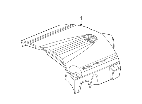 Engine Appearance Cover For 2006 Buick Lacrosse