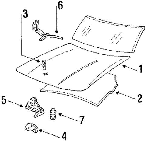 hood  u0026 components parts for 1989 buick lesabre