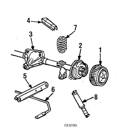 Oem 1986 Chevrolet El Camino Rear Brakes Parts