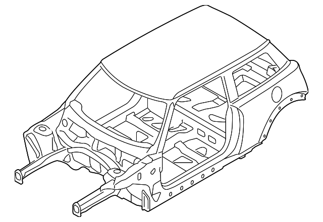 2015 2019 Mini Cooper Body Assembly 41007411221 Oem Bmw Mini Parts