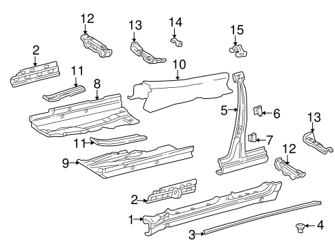 Center Pillar & Rocker for 2000 Mercedes-Benz C 280 #0