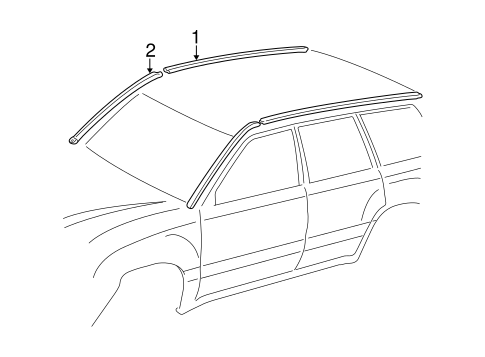 BODY/EXTERIOR TRIM - ROOF for 2001 Toyota Land Cruiser #2