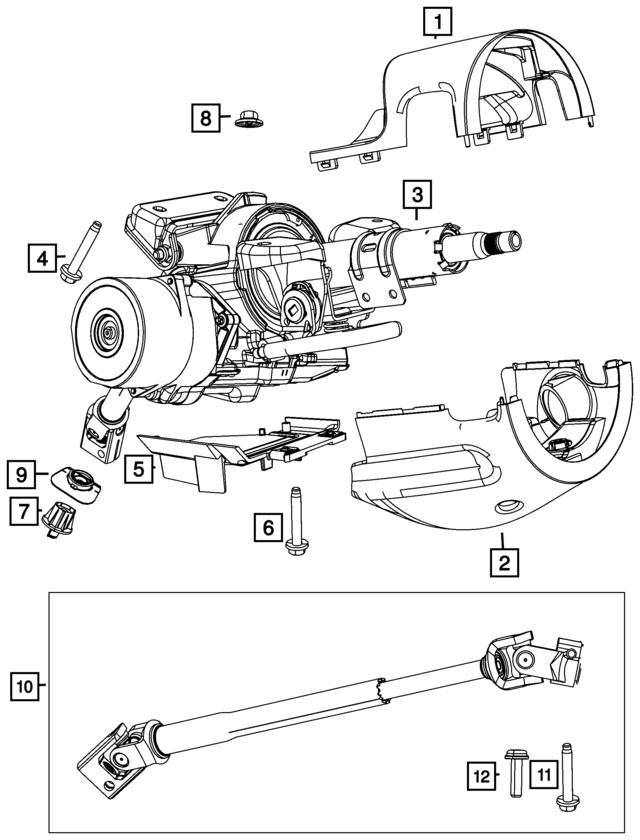 Chrysler 68105066AF Steering Column Intermedia