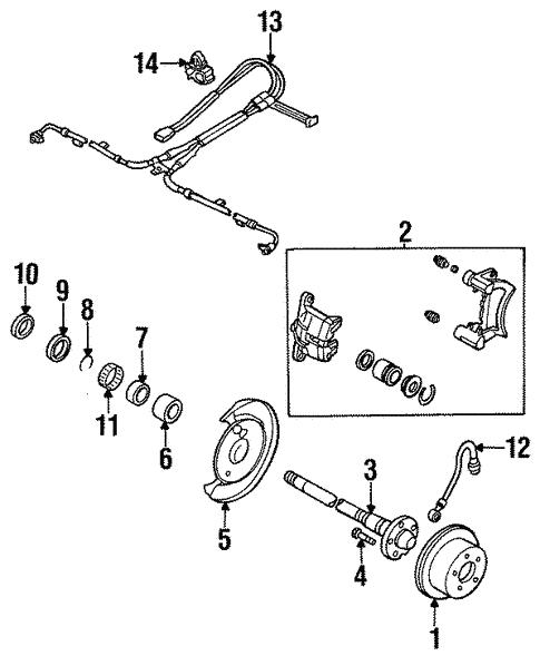 Mazda LB82-43-820A Disc Brake Hydraulic Hose