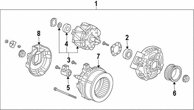 Alternator Assembly (CSK39) (Denso) - Honda (31100-R53-A01)