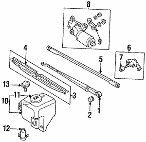 Pivot Assembly Front Wiper