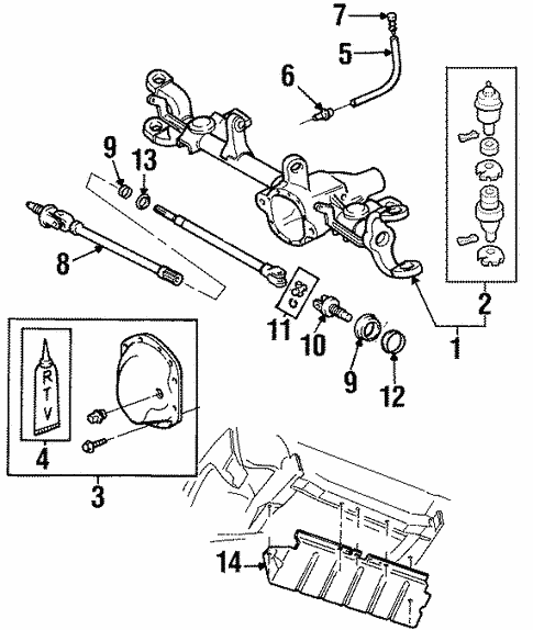 Front Axle Carrier For 1997 Jeep Cherokee